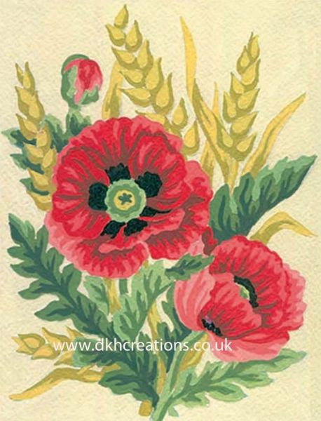 Poppies And Wheat Tapestry Kit